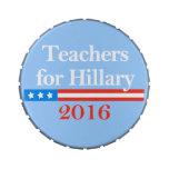¡Profesores para Hillary Clinton en 2016! Latas De Caramelos