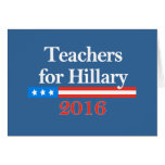 ¡Profesores para Hillary Clinton en 2016! Tarjeton
