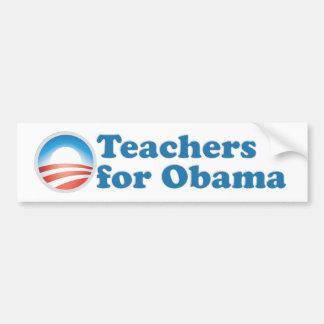 Profesores para Obama Etiqueta De Parachoque