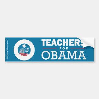 Profesores para Obama Pegatina De Parachoque