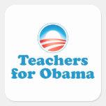 Profesores para Obama Pegatinas Cuadradas Personalizadas