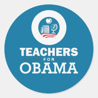 Profesores para Obama Etiquetas Redondas