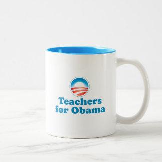 Profesores para Obama Taza De Dos Tonos