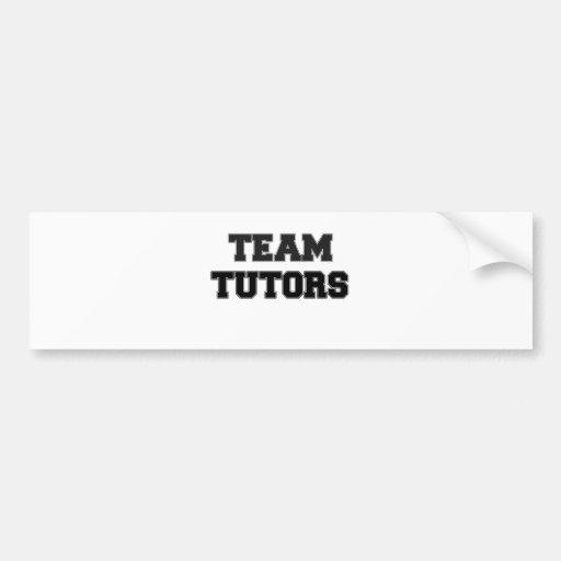 Profesores particulares del equipo etiqueta de parachoque