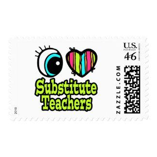 Profesores sustituto brillantes del amor del coraz