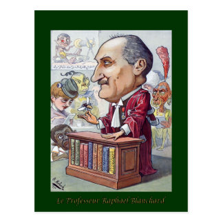 Professeur Raphael Blanchard ~ Medical  Caricature Postcard