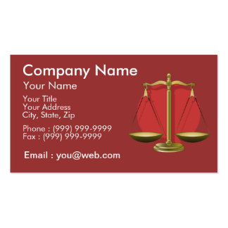 Profession lawyer Double-Sided standard business cards (Pack of 100)
