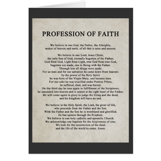 Greeting Cards: www.zazzle.com/profession_of_faith_cards-137209676424634145