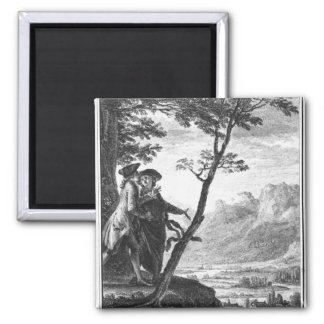 Profession of faith of the Savoyard vicar 2 Inch Square Magnet