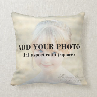 Professional 1x1 Square Add Your Photo Template Throw Pillow