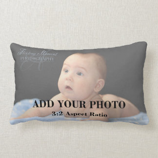 Professional 3x2 Aspect Ratio Photo Template Lumbar Pillow