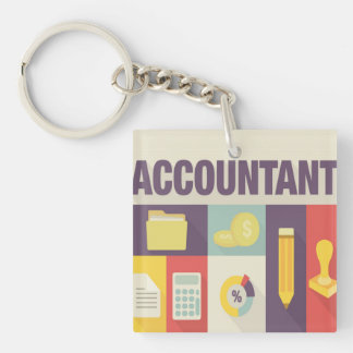 Professional Accountant Iconic Design Keychain