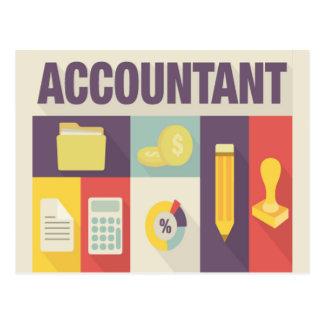 Professional Accountant Iconic Design Postcard