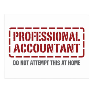 Professional Accountant Postcard