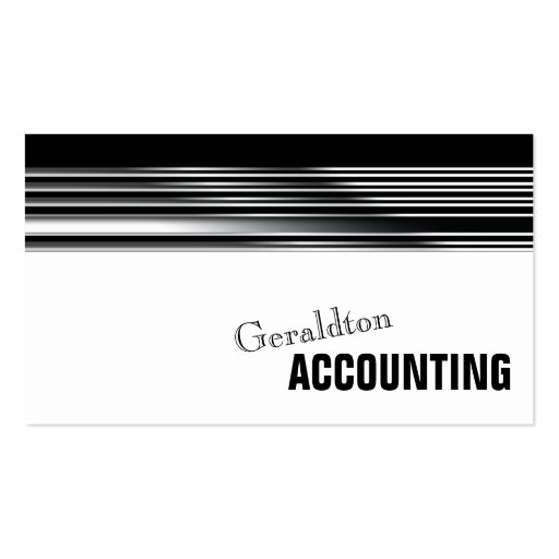 Professional Accountant Simple Metal Business Card