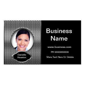 Professional Add Photo Silver Classy Business Double-Sided Standard Business Cards (Pack Of 100)