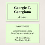 Professional and Classic Architect Business Card