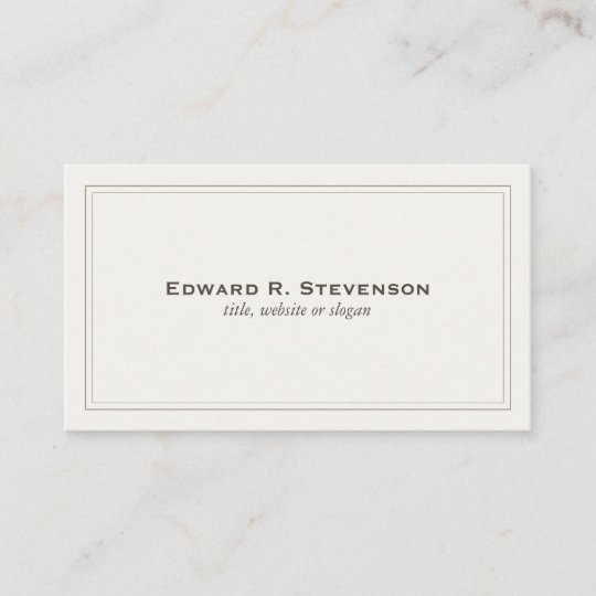 Professional and elegant off white business card zazzle professional and elegant off white business card colourmoves