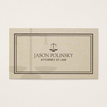 Lawyer Themed Professional and Modern Attorney Business Card