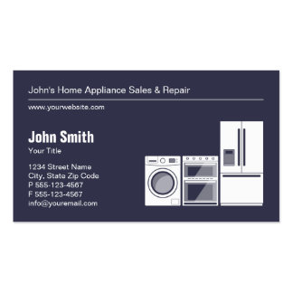 Professional Appliance Repair, Service and Sale Business Card