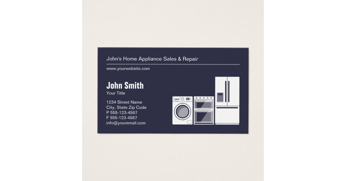 Refrigerator Business Cards & Templates | Zazzle