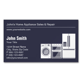 Professional Appliance Repair, Service and Sale Business Card Magnet