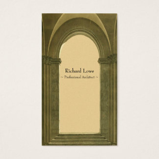 Professional Architect - Classical Arch Business Card