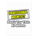 Professional Architect...Don't Try This At Home Postcard
