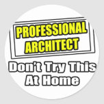 Professional Architect...Don't Try This At Home Sticker