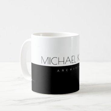 professional (architect) half-black half-white coffee mug