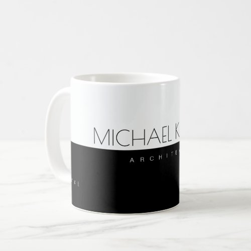 professional architect half_black half_white coffee mug