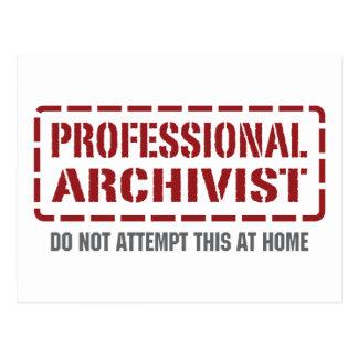 Professional Archivist Postcard