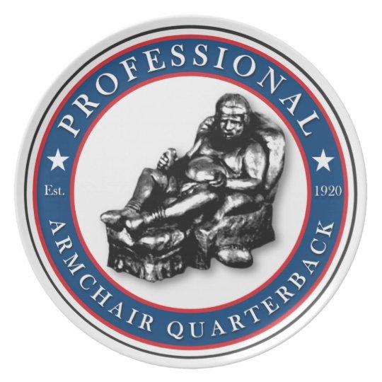 Professional Armchair Quarterback Plate