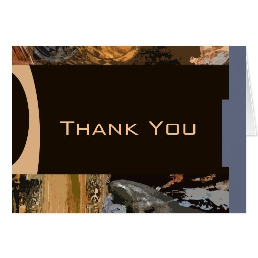 Professional Artsy Thank You Card by Ginette