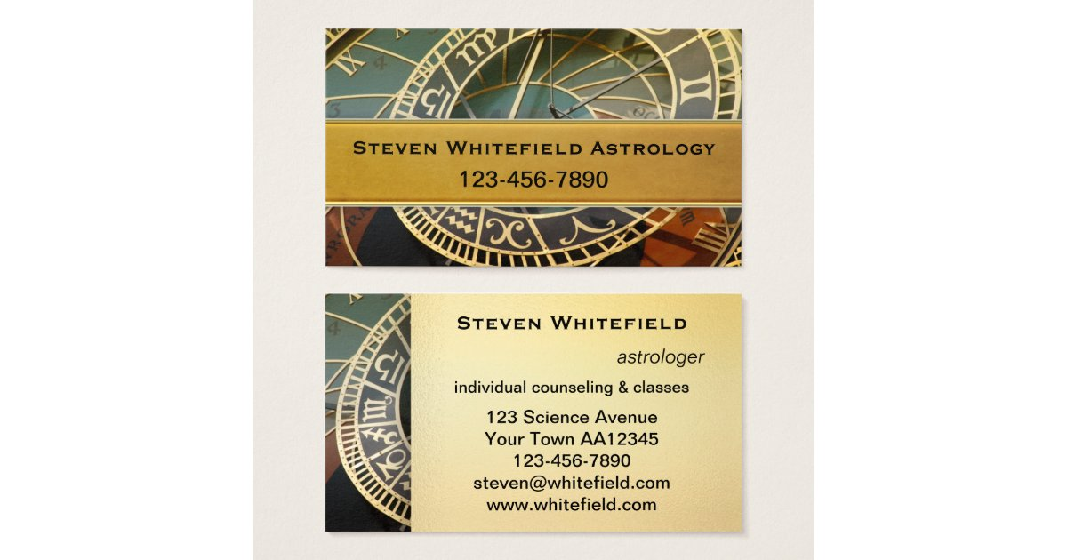 Astrology Business Cards & Templates   Zazzle