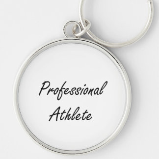 Professional Athlete Artistic Job Design Silver-Colored Round Keychain