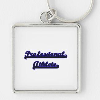 Professional Athlete Classic Job Design Silver-Colored Square Keychain