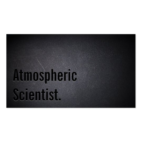 Professional Atmospheric Scientist Business Card