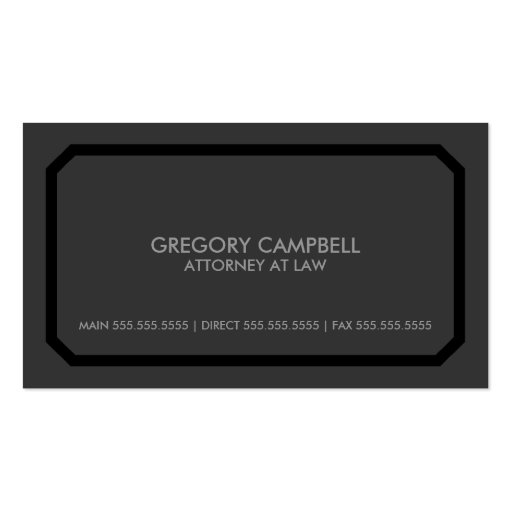 Professional / Attorney Business Cards