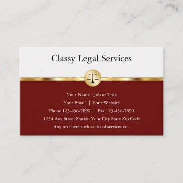 Professional Attorney Classy Business Cards
