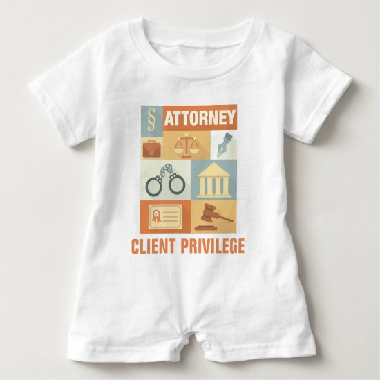 Professional Attorney Iconic Designed Baby Romper