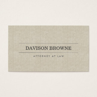 Professional Attorney Linen Look Business Card