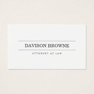 Professional Attorney White Business Card