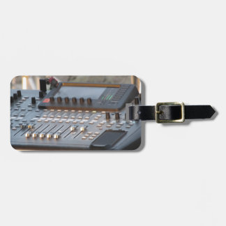Professional audio mixing console bag tag
