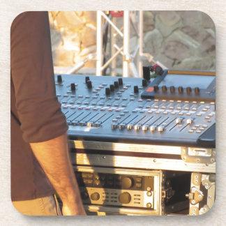 Professional audio mixing console beverage coaster