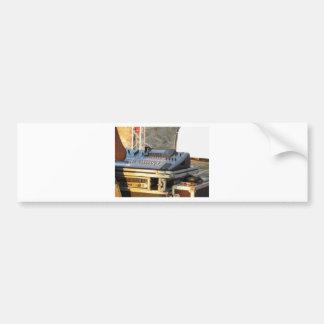 Professional audio mixing console bumper sticker