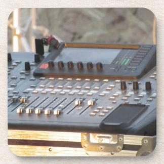 Professional audio mixing console coaster