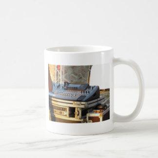 Professional audio mixing console coffee mug