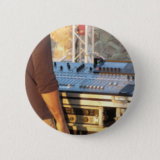 Professional audio mixing console pinback button