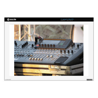 "Professional audio mixing console skin for 17"" laptop"